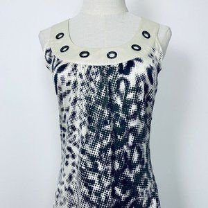 Guess Jeans Womens Black White Racer Back Top